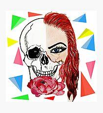 Abstract half skull half face Photographic Print