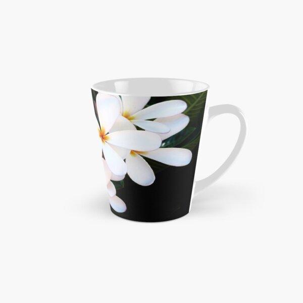 White Plumerias Tall Mug