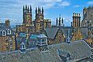 Roofs of Old town Edinburgh by Yukondick