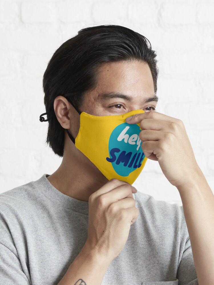 Alternate view of Hey, smile - positive feelings Mask