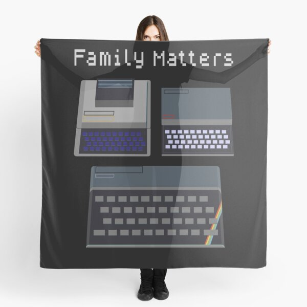 Family Matters - Retro UK Computers Scarf
