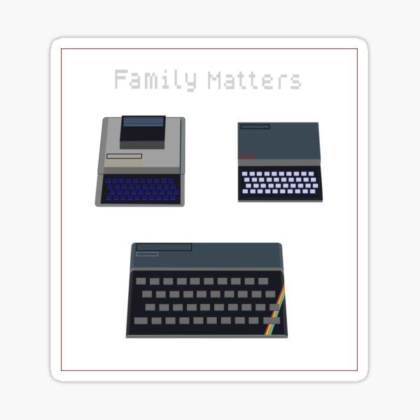 Family Matters - Retro UK Computers Sticker