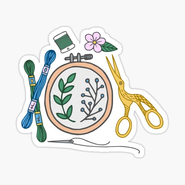 Embroidery | Embroidery Pattern | Embroidery Supplies Sticker