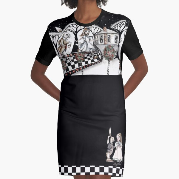 Alice in Wonderland clothing and more Graphic T-Shirt Dress