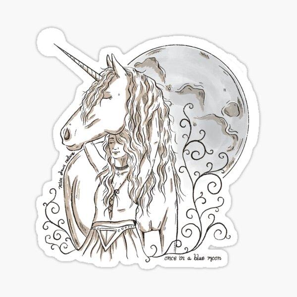 Blue Moon Unicorn Sticker