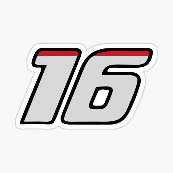 Marchandise Charles Leclerc Numéro 16 Sticker