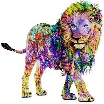 EDM Lion by BrittainDesigns