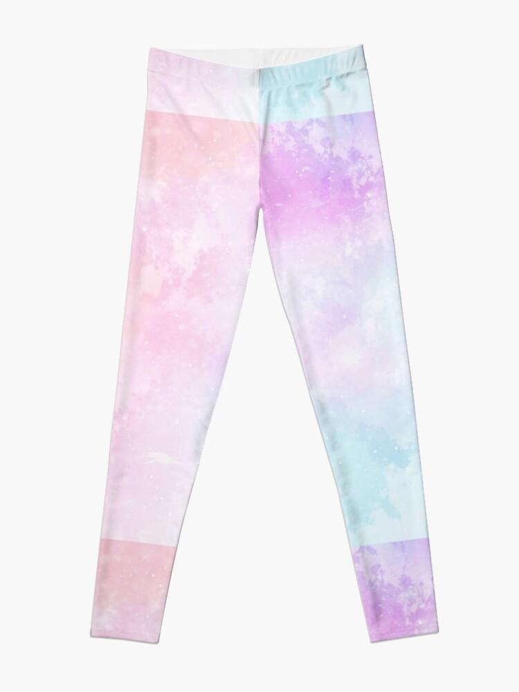 Alternate view of Magical Pastel Galaxy Leggings