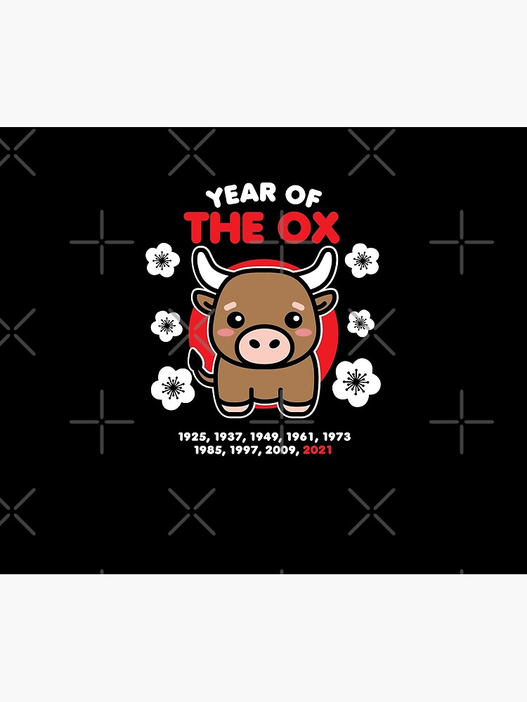 Year of the Ox 2021 Cute Kawaii Chinese New Year Animal by DetourShirts