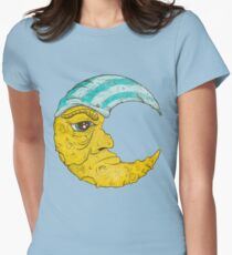 Old Man Moon Womens Fitted T-Shirt