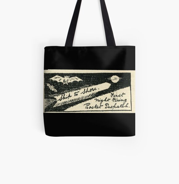 Vintage label - rocket mail from the 30s. India Rocket mail All Over Print Tote Bag