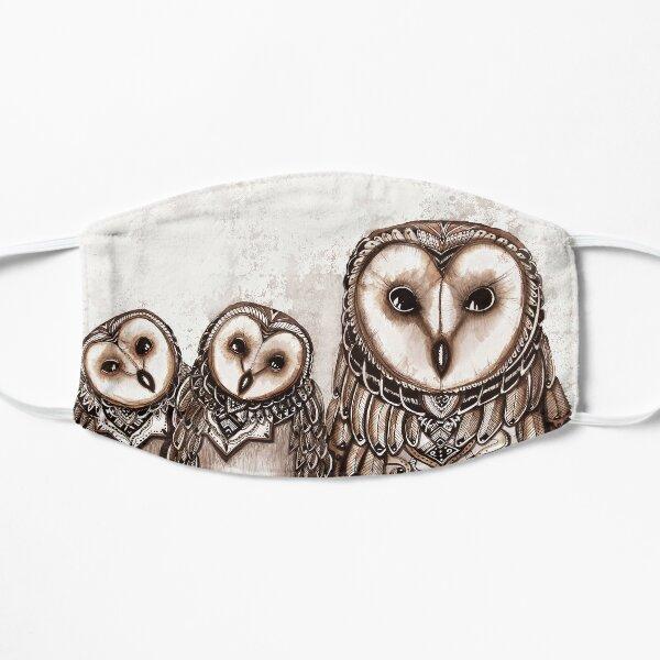 Owl trio  Flat Mask