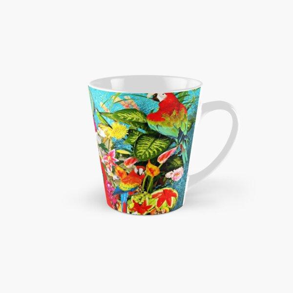Frida Kahlo with Mexican Animals, Plants, Birds Tall Mug