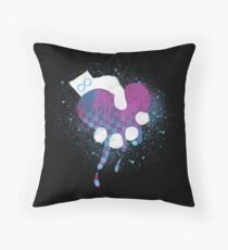 Squeezing Heart- Signature Logo Spraypaint Throw Pillow