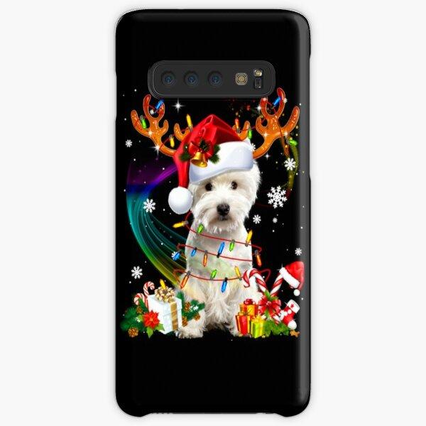 Westie Reindeer Christmas Tree Lights Samsung Galaxy Snap Case