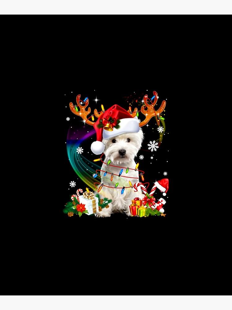 Westie Reindeer Christmas Tree Lights by GarethDennis
