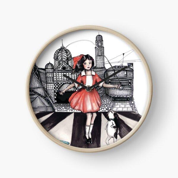 Skipping girl Melbourne little Audrey Clock