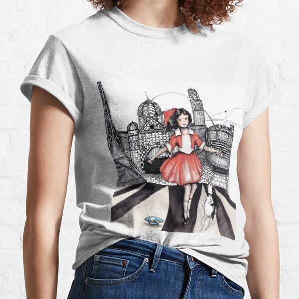 Skipping girl Melbourne little Audrey Classic T-Shirt