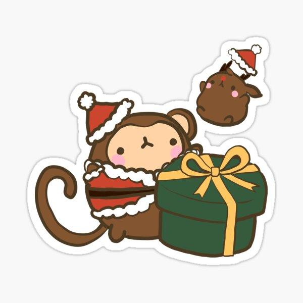 Christmas Monkey Sticker