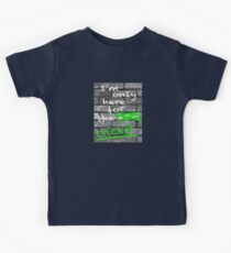 I'm Only Here For The Cricket Kids Tee