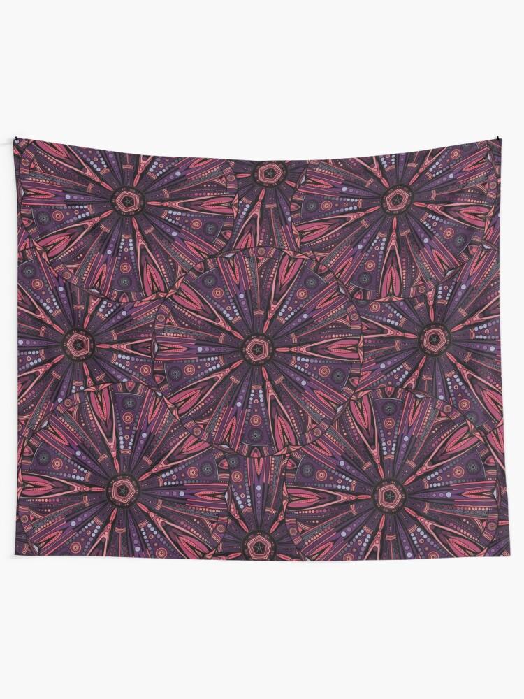 Alternate view of Underwater Urchin Mandala Tapestry