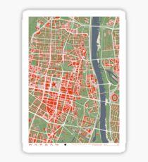 Warsaw city map classic Sticker