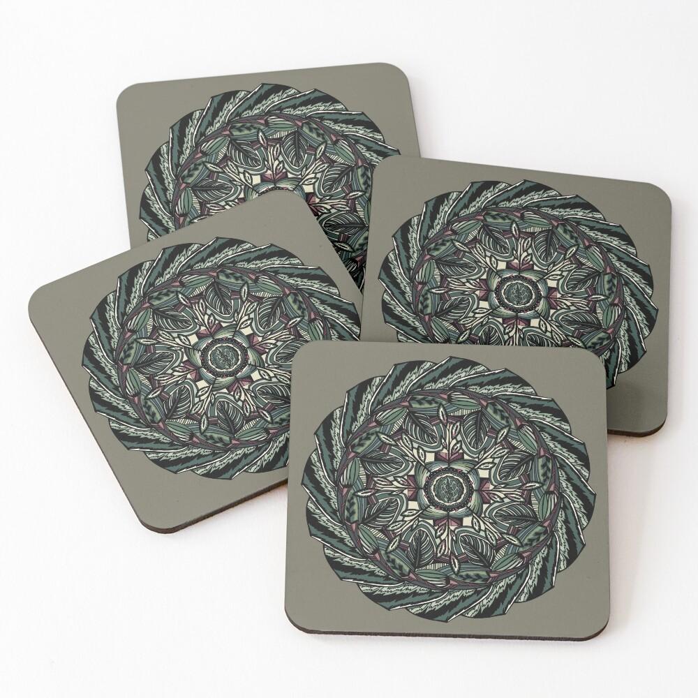 House Plants Mandala Coasters (Set of 4)