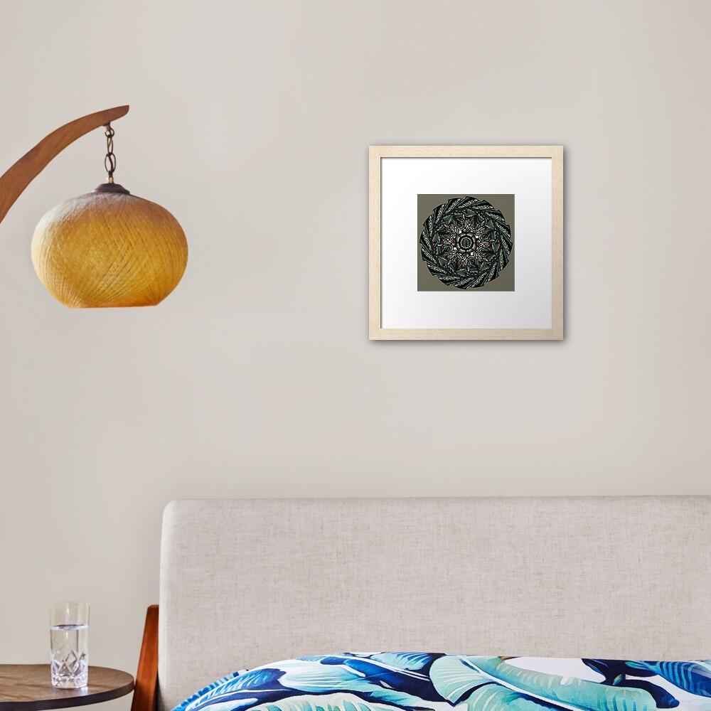 House Plants Mandala Framed Art Print