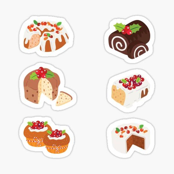 Cream Puff Cakes Filofax Stickers Toast Pretzels Baguette Bun Donuts Bread Sticker Flakes French Toast 200 Pcs Pastries Sticker