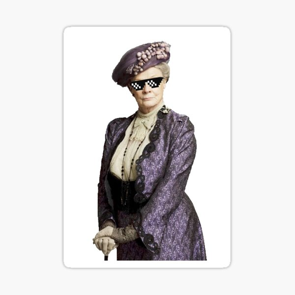Shade Throwing Dowager Countess - Downton Abbey Sticker