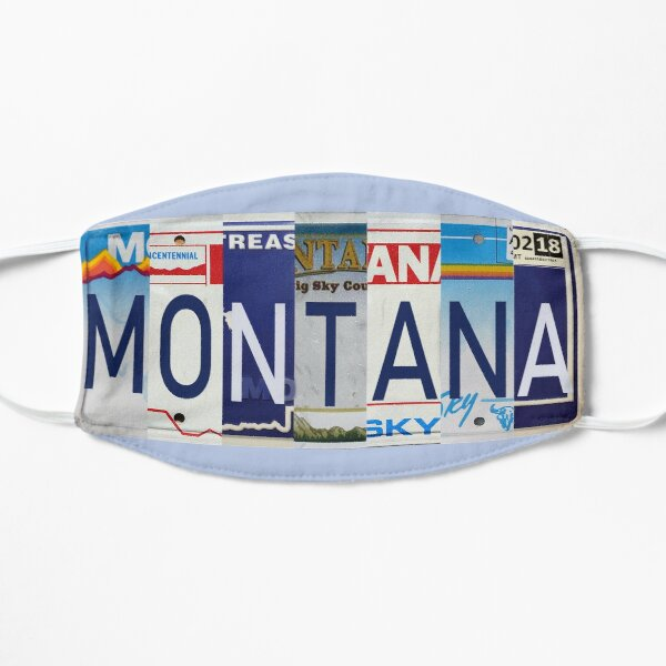 Montana License Plates  Flat Mask