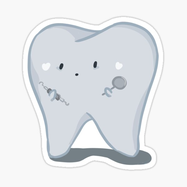 Toothy Baby Sticker