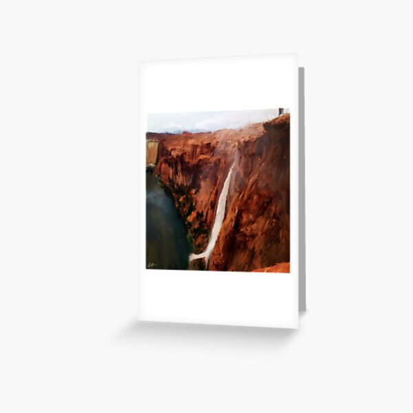 Wash Waterfall in Canyon Greeting Card