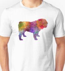 English Bulldog in watercolor Unisex T-Shirt