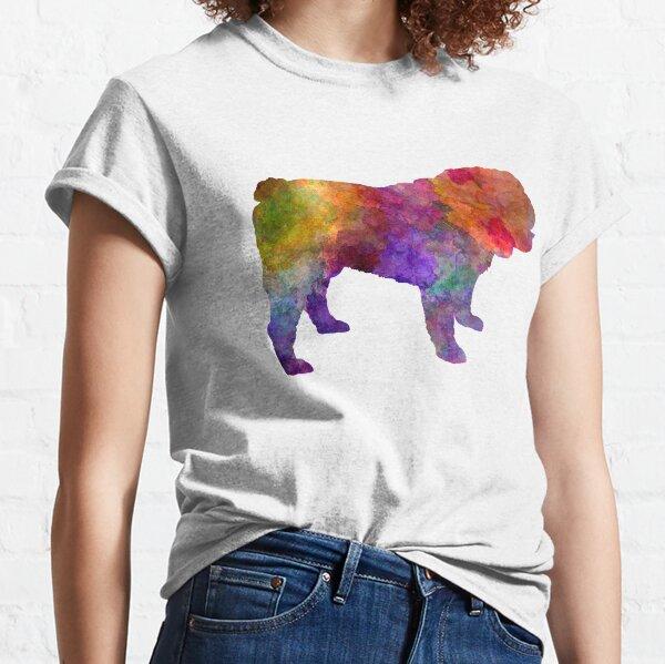 English Bulldog in watercolor Classic T-Shirt