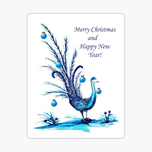 Christmas Lyrebird Sticker