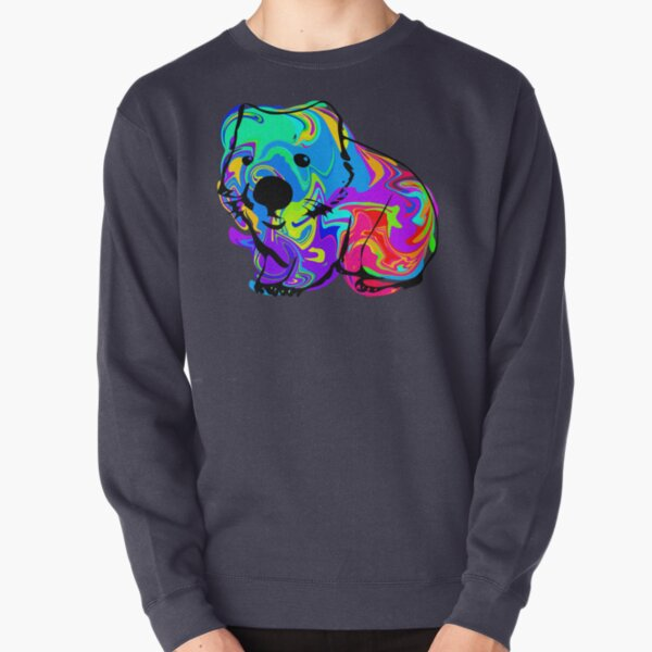 Colorful Wombat Pullover Sweatshirt