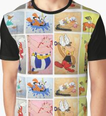 Cartoon Characters  Graphic T-Shirt