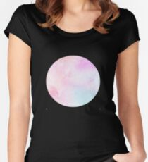 Magical Pastel Galaxy Women's Fitted Scoop T-Shirt