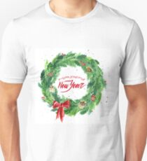 Christmas wreath with a bow, pine cones and rowan T-Shirt