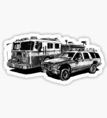 Fire Trucks Sticker