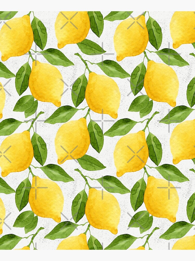 Watercolor Lemon Pattern by helga-wigandt