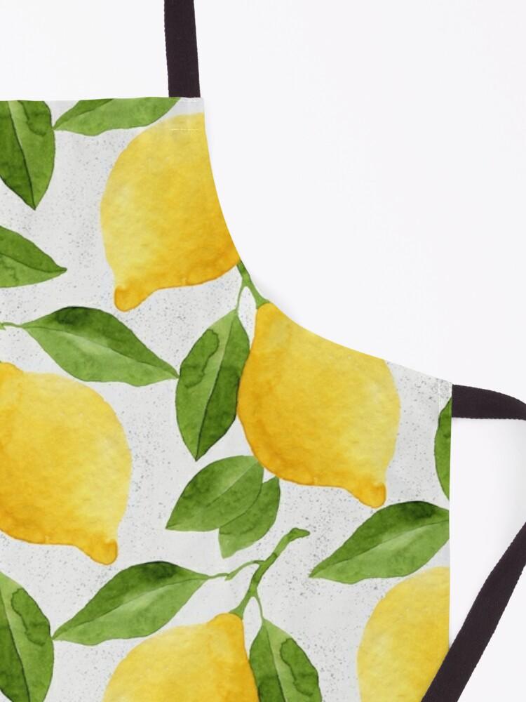 Alternate view of Watercolor Lemon Pattern Apron