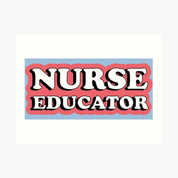 Nurse Educator Red Typography Art Print