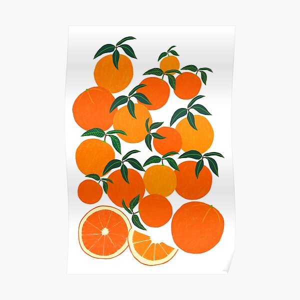 Orange Harvest - White Poster