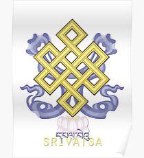Srivatsa (Endless Knot) - Buddhist & Hindu Ashtamangala Poster