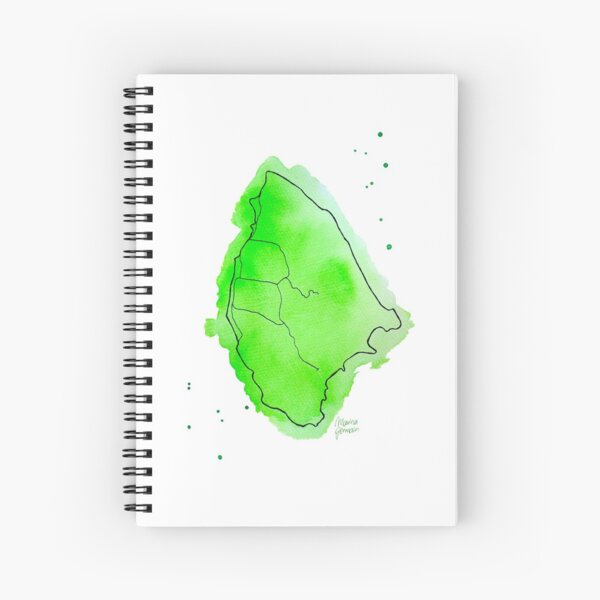 Seychellen, La Digue, Aquarell Spiralblock