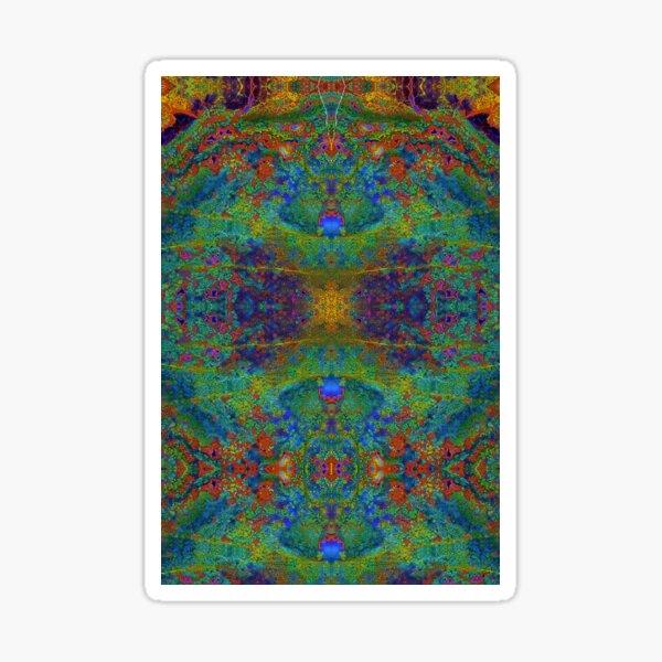 Lithoviso Steindesign: Muster aus selbstgefundenem Edelstein: Jaspis # 2 Sticker