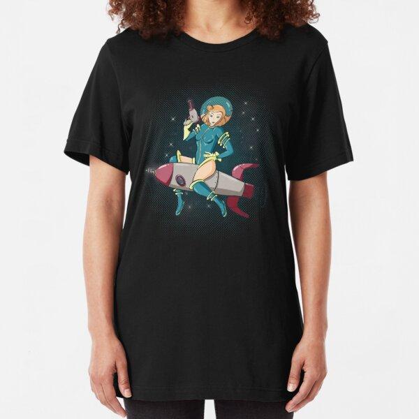 Rocket Ride Pinup Slim Fit T-Shirt
