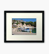 Votsi on Alonissos island Framed Print
